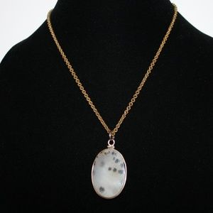 """Vintage gold and natural stone necklace 18"""""""